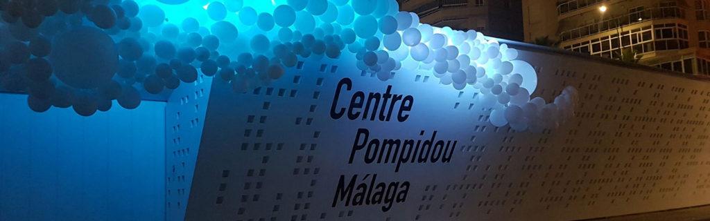 decoración globos museo Pompidou