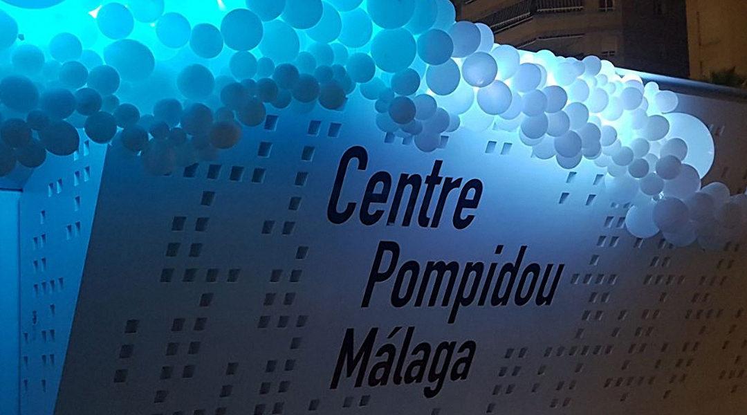Decoración con globos Museo Pompidou